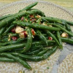 French Beans in a Hazelnut, Butter and Honey Vinaigrette