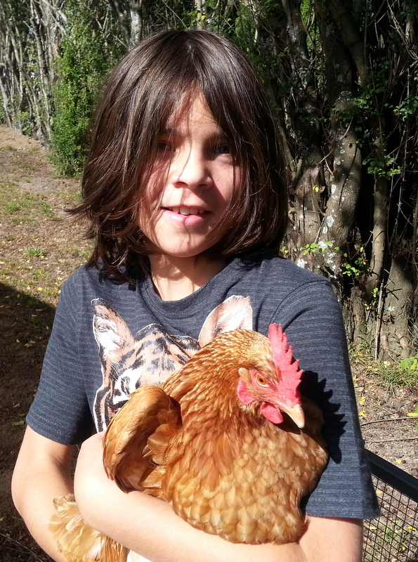 Jonny and a chicken