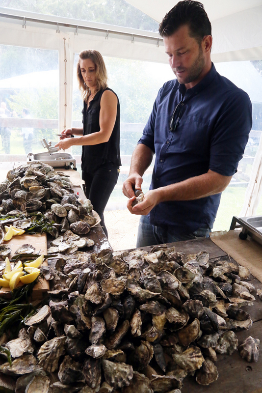 Ewan and Louisa from Signature Oysters Australia Image Edmond Thommen